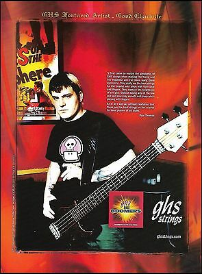 Good Charlotte Paul Thomas for GHS guitar strings ad 8 x 11 advertisement