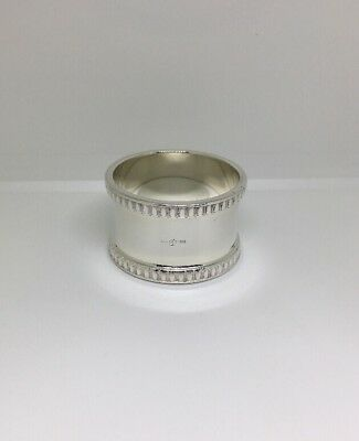 Francis Howard Silver Plated Napkin Ring with decorative Bands