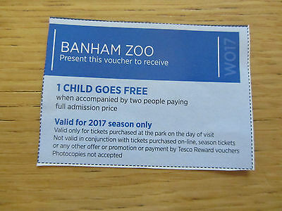 BANHAM ZOO Voucher - Free Child With 2 Paying People