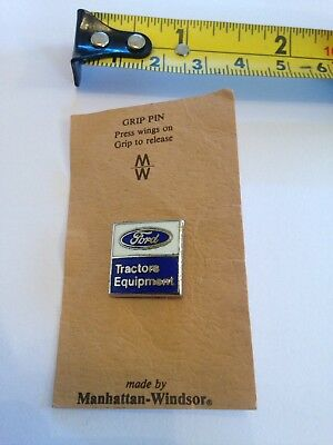 Ford Tractors Equipment Pin Badge made by Manhattan -Windsor.