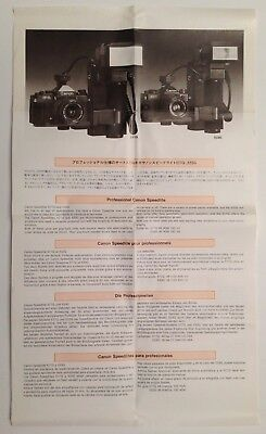 Original CANON Speedlite 533G/577G/011A 35mm Camera Flash AD Sheet New F1/A1/AE1