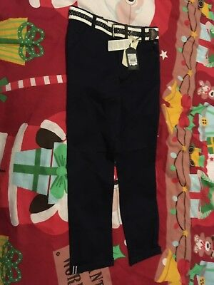 Boys Jasper Conran Navy Slim Fit Trousers Age 9 BNWT