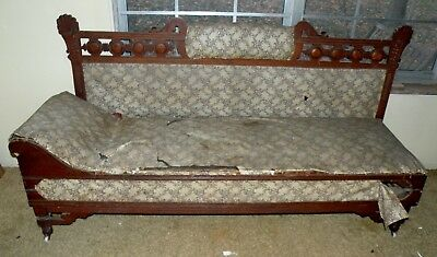 Cool Antique EASTLAKE Style Fainting Couch Loveseat Day Bed