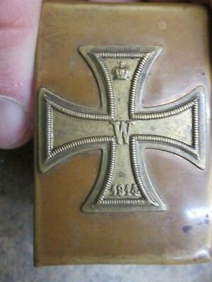 Vintage WWI Era Matchbox Case With WWI German Iron Cross No Reserve #2