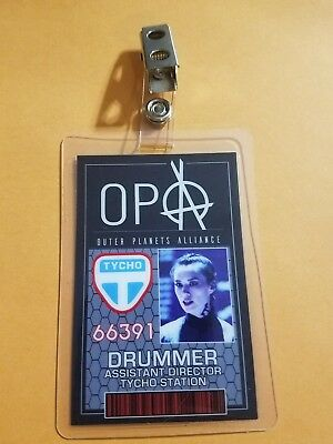 The Expanse ID Badge-OPA Drummer cosplay prop costume
