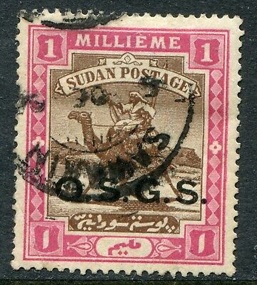Sudan official 1902 official O.S.G.S. 1m SG O.3b used (cat £45) minor fault