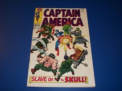 Captain America #104 Silver Age Key Issue VG/F