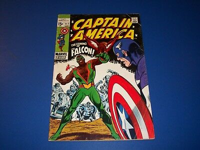 Captain America #117 Silver Age 1st Falcon Appearance Huge Key Wow