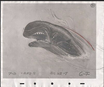 Pinocchio 1930s Whale Model Sheet from Bill Tiltons Personal Archives Disney