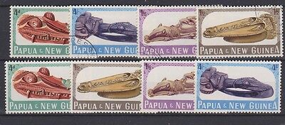 PAPUA NEW GUINEA 199-202 1965 used & mint Carvings