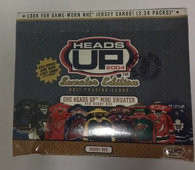 2003-04 Pacific Heads Up Sweater Edition Factory Sealed Hobby Hockey Box