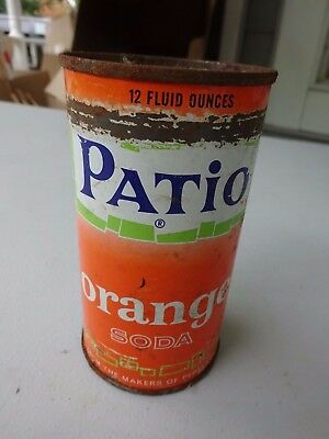 Old Pull Tab Can, Patio Orange Soda by Pepsi Cola
