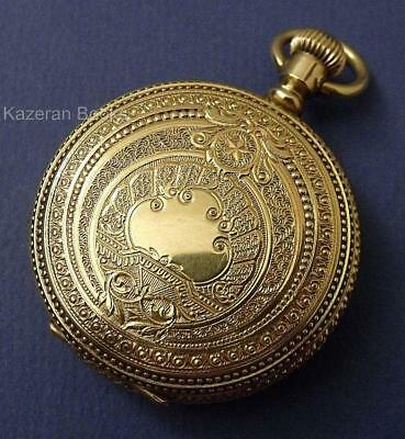 Antique Duchess 14ct Gold Plated Fancy Full Hunter Case Fob Pocket Watch