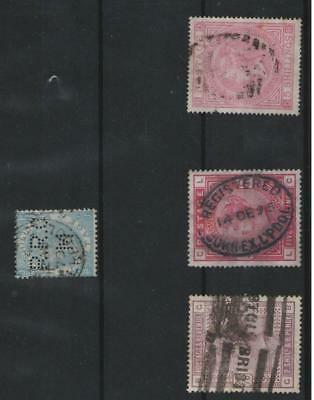 Great Britain Stamps Collection Scott#108,96,57,55 Victoria Used CV$915!!!!