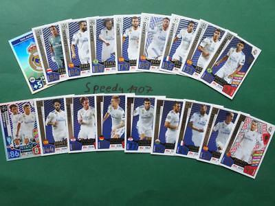 Topps Match Attax 2017 2018 Champions League all 18 Real Madrid complete