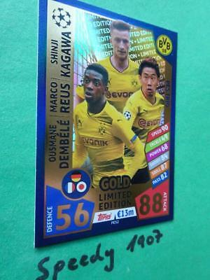 Topps Champions League 2017 18 limited Edition Dortmund Reus Match Attax PES2