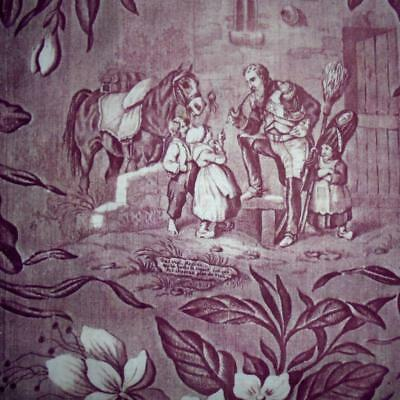 BEAUTIFUL 19th CENTURY FRENCH NAPOLEONIC TOILE c1840 V GOOD CONDITION 2.