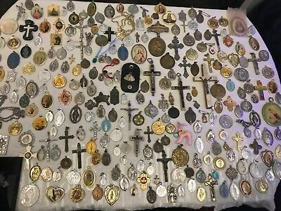 Lot Of 307 Antique Vintage Catholic Religious Holy Medals Carmelite Nuns Convent