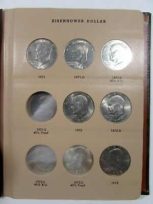 1971-1978 Eisenhower Dollars IKE Collection Uncirculated 18 Coins Partial Set