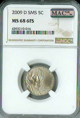 2009-D Jefferson Nickel Ngc Mac Ms68 Fs Sms Pq 2Nd Finest Pop-47 Spotless *