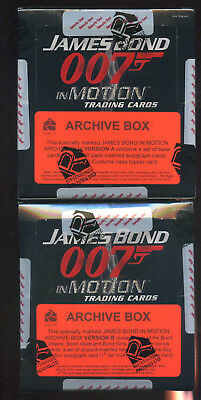 JAMES BOND In Motion ARCHIVE Card Box A & B ARCHIVES auto sealed super rare