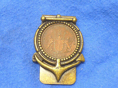 Vintage 1808 10 Cash Coin East India Company  Money Clip,USED