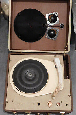 VINTAGE ancien tourne disque MELODYNE LYS old turntable platine FOR PARTS tsf