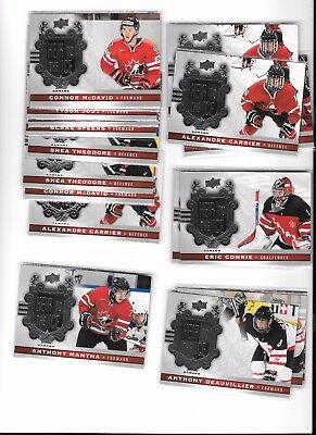 2017-18 Upper Deck Canadian Tire Heir To The Ice Mcdavid,comrie,mantha,murray