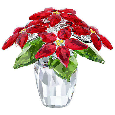 Poinsettia Large - Holiday Plant 2017 Christmas Xmas Swarovski Crystal #5291024