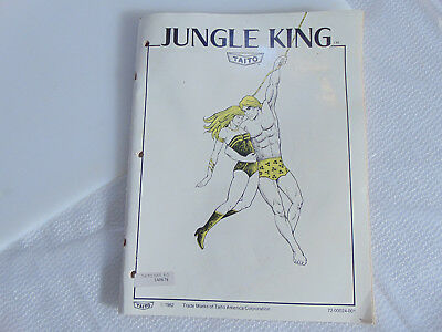 1982 OEM Original JUNGLE KING by Taito Upright Arcade Owner's Manual