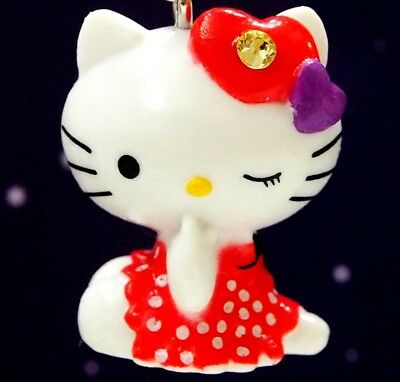Hello Kitty X 2011 Original Sitting Post Swarovski Elements Crystals Japan Charm