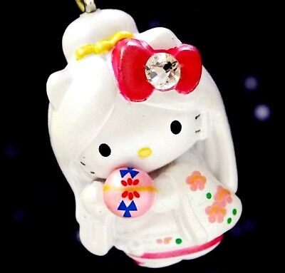 Hello Kitty X Hokkaido Snow Lady Swarovski Elements Crystals Japan Charm Pendant