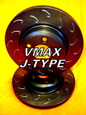 SLOTTED VMAXJ fits FORD Territory 2WD AWD 2004 Onwards FRONT Disc Brake Rotors