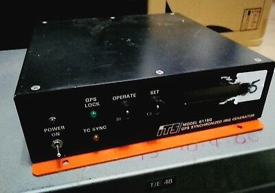 ITS 6115G GPS SYNCHRONIZED IRIG Generator ULTRA RARE WORKING USED COMMERCIAL