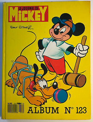 ALBUM LE JOURNAL DE MICKEY n°123 ¤ avec n°1789 à 1797 ¤ 1986 AVEC 3 POSTER