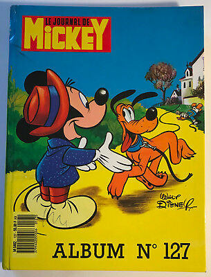 ALBUM LE JOURNAL DE MICKEY n°127 ¤ avec n°1828 à 1837 ¤ 1987 + MINI BD DONALD