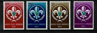 Maldive Is 1964 World Scout Jamboree SG 130-33  MNH
