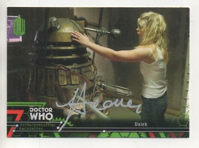 """Dr Who Encounters Topps Trading Card No.72 Auto by Joe Ahearne """"Director"""" DALEK"""