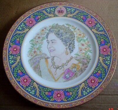 Coalport Large Collectors Plate THE QUEEN MOTHERS 85TH BIRTHDAY PLATE