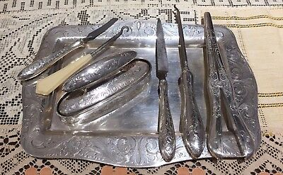 Antique Shreve & Co. San Francisco Sterling 7pc Gorham Personal Accessories Set