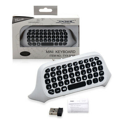 White Wireless Chatpad for Xbox one Controller Keyboard with Headset Audio Jack