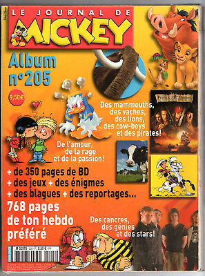 ALBUM LE JOURNAL DE MICKEY n°205 ¤ n°2696 à 2705 ¤ 2004 DISNEY