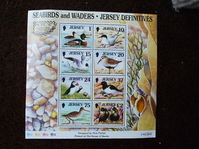 G.B Jersey Mint Stamps Mini Sheet Seabirds & Waders Definitives 1997
