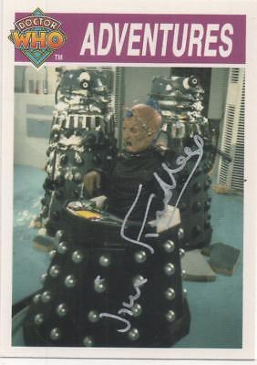 """Dr Who Cornerstone Card No.160 Auto by Jim Findley """"Mercer"""" DALEKS"""
