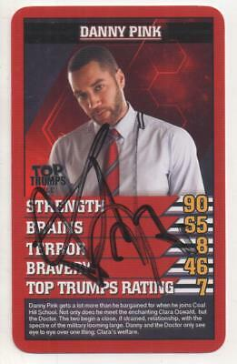 """Dr Who Top Trumps Trading Card """" Auto by Samuel Anderson """"Danny Pink"""""""