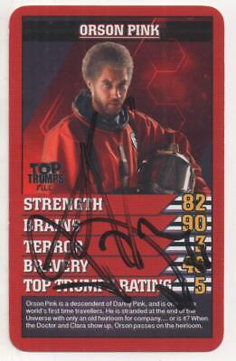 """Dr Who Top Trumps Trading Card """" Auto by Samuel Anderson """"Orson Pink"""""""