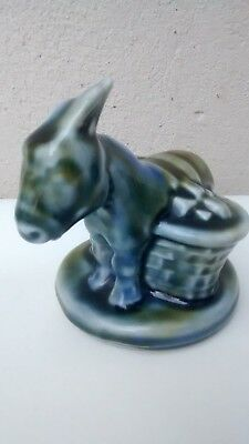 Irish Wade Style Porcelain Donkey And Cart Figure