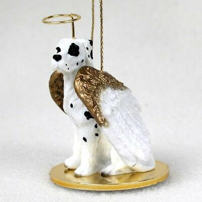 Great Dane Uncropped Harlequin Dog ANGEL Tiny One Ornament Figurine Statue