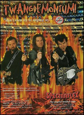 The Hellecasters John Jorgensen Will Ray Spectraflex guitar cables 8 x 11 ad
