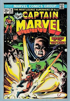 CAPTAIN MARVEL - Lot of 8 #'s 36 to 57  Avg VFN- (7/7.5)  CENTS - 60% OFF GUIDE